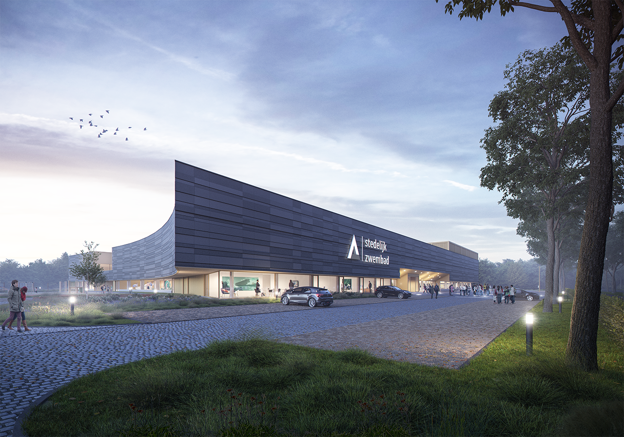 Neues Städtische Schwimmbad Aalst (BE)